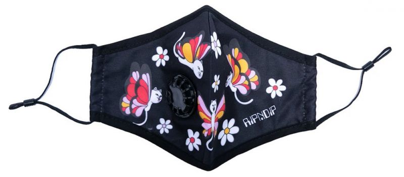 RIPNDIP Butterfly Ventilator Mask Black - Mundschutz