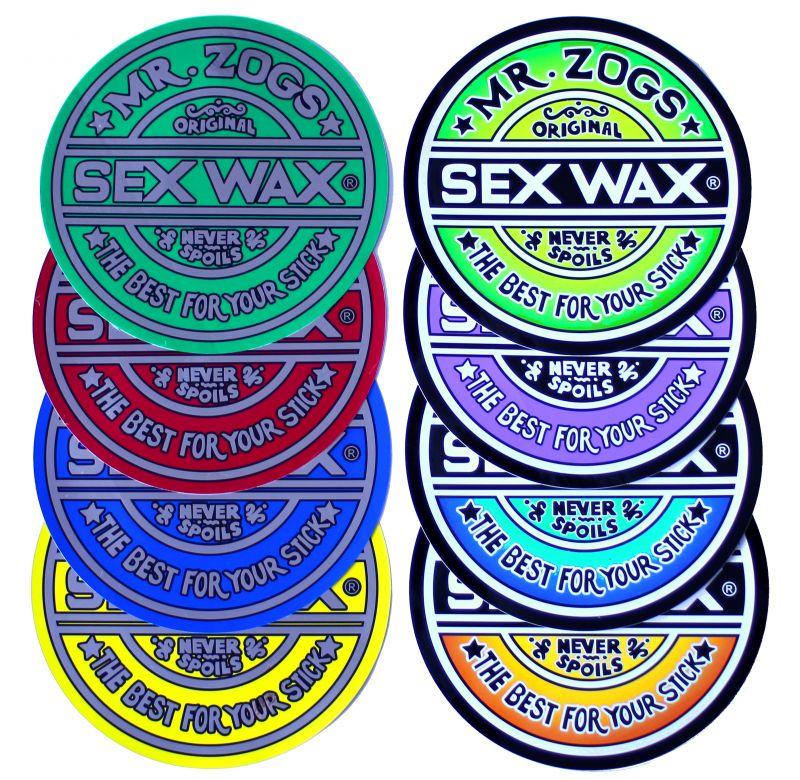 "SEX WAX Sticker 7"" Faded Orange - Circular Original Logo - Aufkleber"