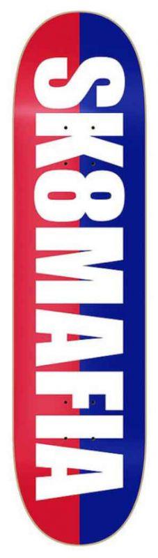 """SK8MAFIA Og Logo Split White 8.1"""" - Skateboard Deck"""