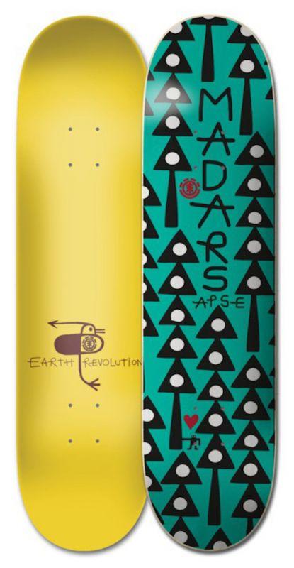 "ELEMENT Earth Rev Madars 8.3"" - Skateboard Deck"