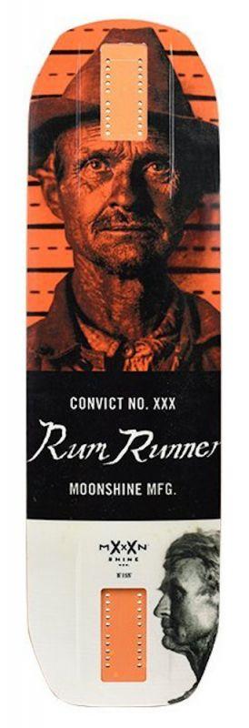 MOONSHINE Rum Runner White/Orange - Longboard Deck