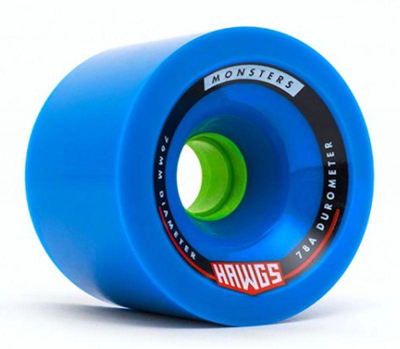 HAWGS Monsters 76mm 78a Blue - Longboard Rollen