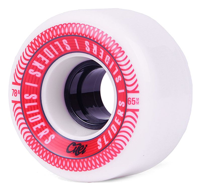 CUEI Sliders 65mm 78a White/Red