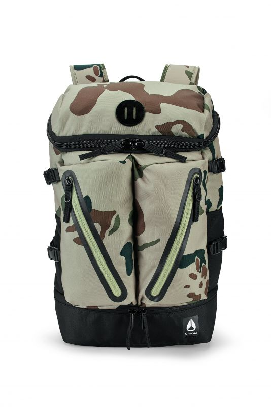 NIXON Scripps II Khaki Camo Rucksack Backpack