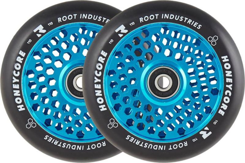 ROOT INDUSTRIES Honeycore 110mm Blue - 2-Pack Stunt Scooter Rollen