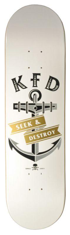"KFD Anchor 7,825"" White  - Skateboard Deck"