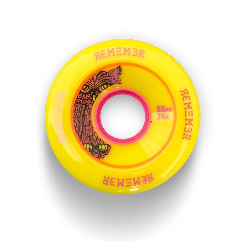 REMEMBER Lil Hoot 74a 65mm Yellow - Longboard Rollen