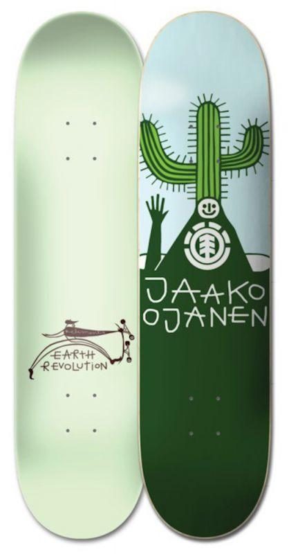 """ELEMENT Earth Rev Jaako 8.25"""" - Skateboard Deck"""