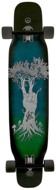JET Wild Thing Hippy Tree - Longboard Komplett