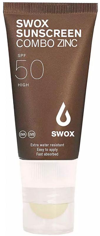 SWOX Sunscreen Combo Zinc beige 50 - 3,2g Lippenstift + 20ml Sonnencreme