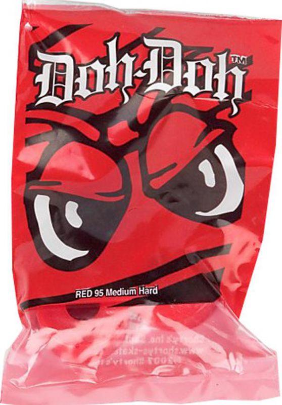DOH-DOH Bushings Red 95a Medium Hard -  Set für 2 Skateboardachsen