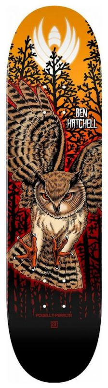 "POWELL PERALTA Flight Shape 249 Hatchell Owl 8,5"" Orange - Skateboard Deck"