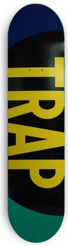 "TRAP Big Logo PP Blue Turqoise 7,8"" - Skateboard Deck"