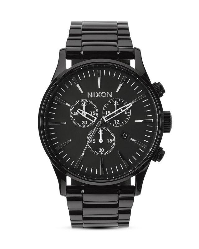 NIXON Sentry Chrono Black - Armbanduhr