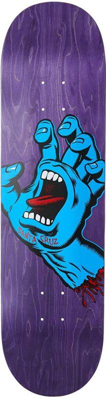"SANTA CRUZ Screaming Hand 8.375"" Purple - Skateboard Deck"