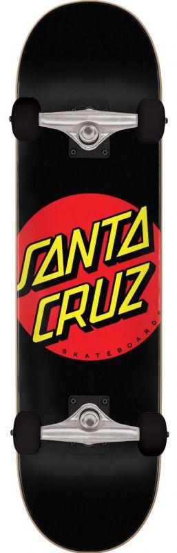 "SANTA CRUZ Classic Dot 8"" Full Black - Skateboard Komplett"