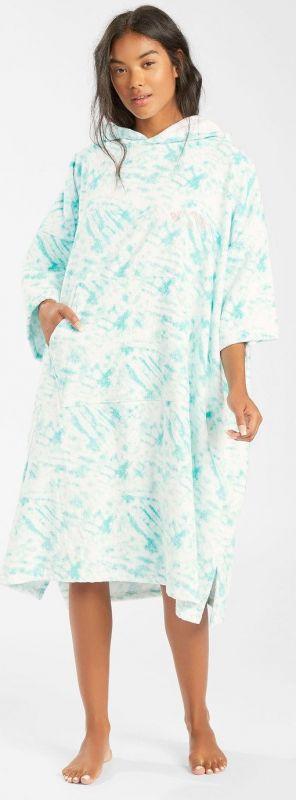 BILLABONG Womens Hoodie Towel Island Blue Neo - Surf Poncho