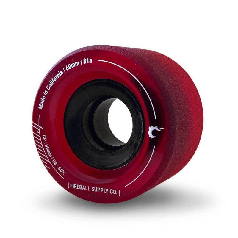 FIREBALL Tinder 60mm 81A Red - Longboard Rollen