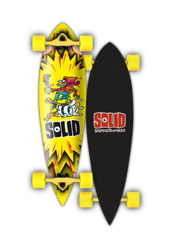 SOLID Kid Pintail - Longboard Komplett