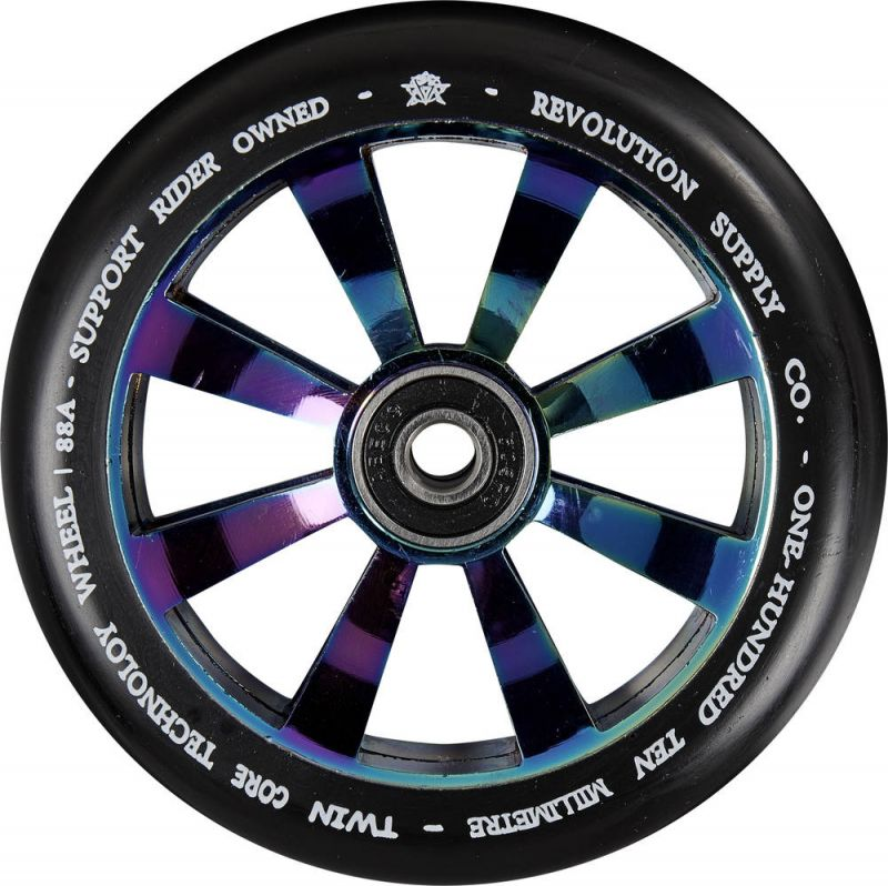 REVOLUTION SUPPLY Twin Core 110mm Neochrome - Stunt Scooter Rolle
