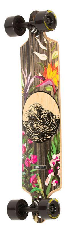 """DB LONGBOARD Tsunami 36"""" Tropical - Longboard Komplett"""