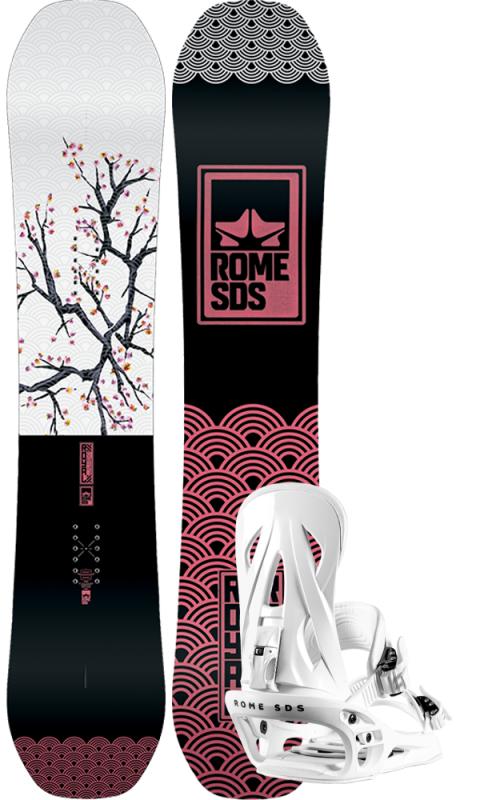 ROME Royal 147 inkl. Shift White M/L - Set mit Snowboard und Bindung 2020