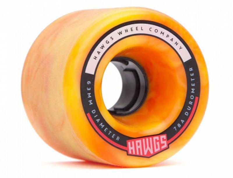 HAWGS Fatty Hawgs 78a 63mm Orange/Yellow Swirl