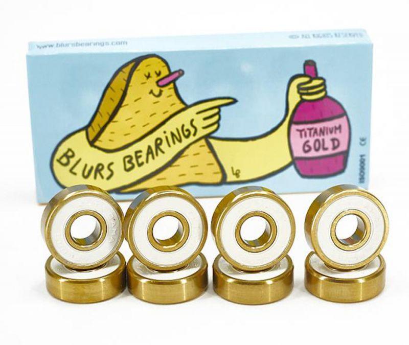 BLURS Bearings Abec 9 Titanium Gold - Skateboard Kugellager