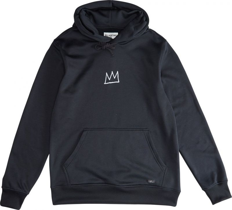 BILLABONG Basquiat Thermo Fleece Hood - Black - S - Snowboard Kapuzenpullover