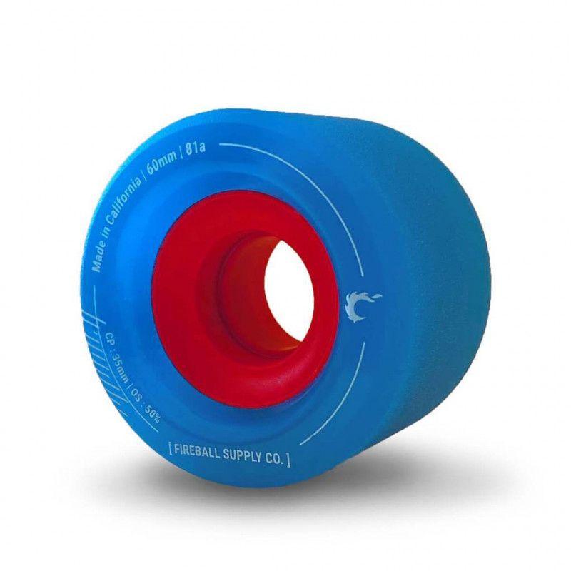 FIREBALL Tinder 60mm 81A Blue - Longboard Rollen