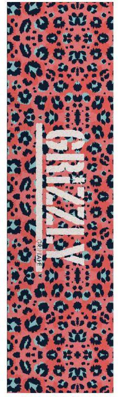 "GRIZZLY Pink Leopard Stamp Griptape - Skateboard 9"" x 33"""