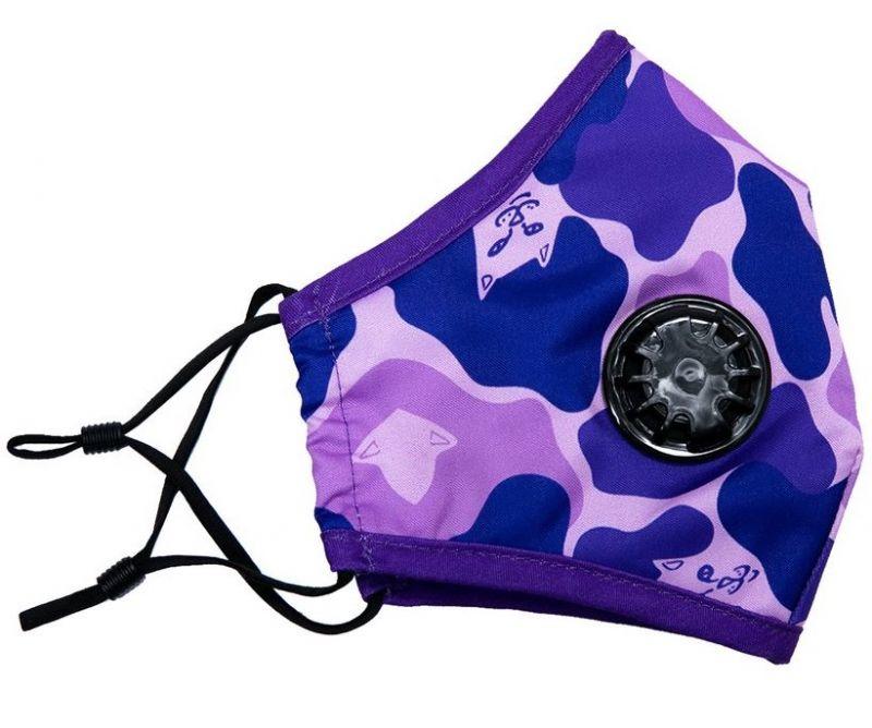 RIPNDIP Purple Camo Ventilated Mask - Mundschutz
