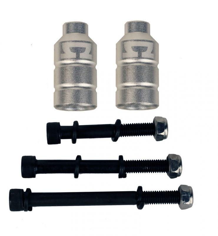 AO SCOOTER Double Peg Kit incl. 3 Bolts Silver