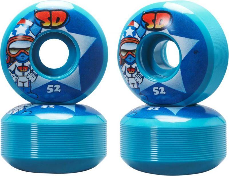 SPEED DEMONS Characters Stars 52mm Blue - Skateboard Rollen