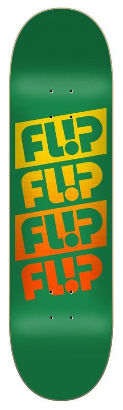 """FLIP Team Quattro Faded Green 8.5"""" - Skateboard Komplett"""