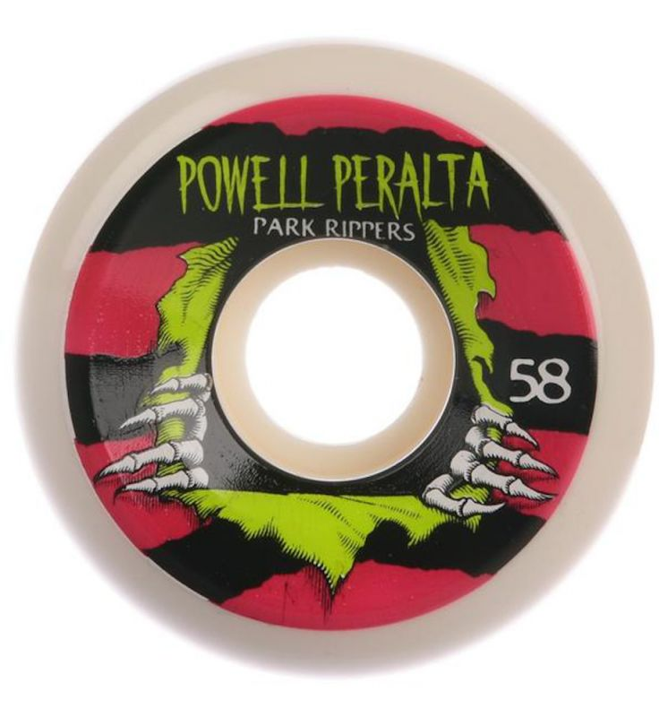 POWELL PERALTA Park Ripper PF 58mm 84b White/Pink