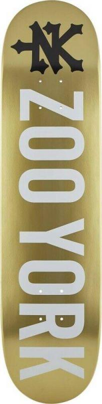 "ZOO YORK Logo 8,0"" Gold - Skateboard Deck"