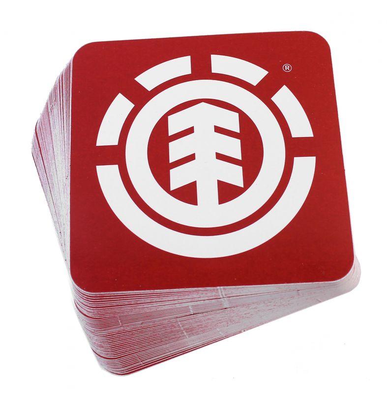 ELEMENT Icon Red Sticker 50er Pack - Aufkleber