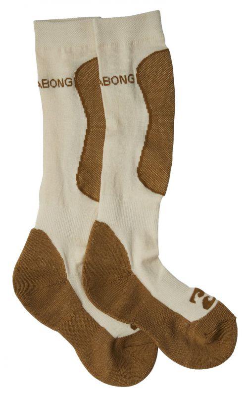 BILLABONG Compass Merino Women - White Cap - L - Snowboard Socken