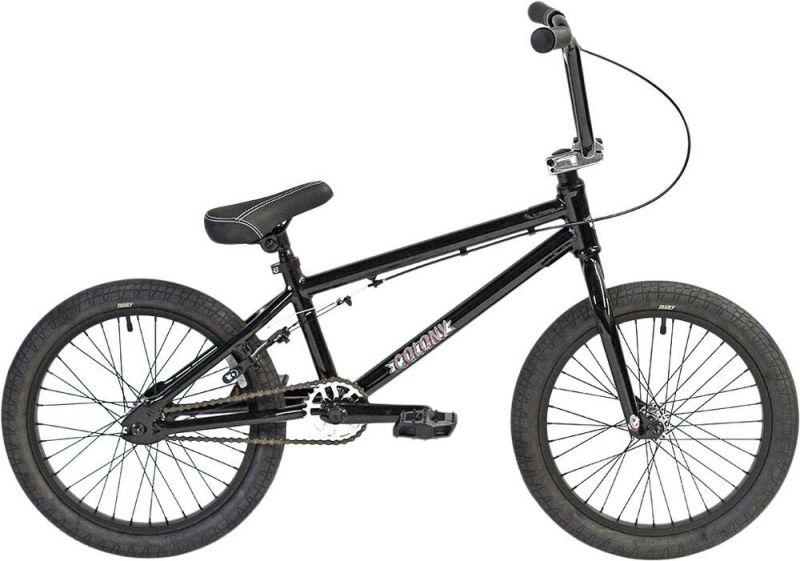 "Colony Horizon 18"" Gloss Black / Polished 2021 Freestyle BMX Fahrrad"