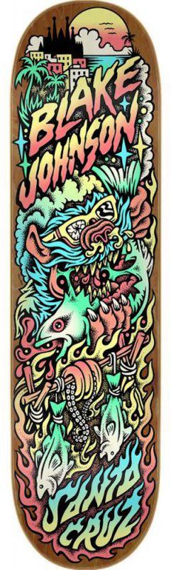 "SANTA CRUZ Johnson Beach Wolf Two Powerply 8.375"" - Skateboard Deck"