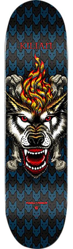 "POWELL PERALTA Kilian Martin Wolf 6 Popsicle 8"" Blue/Black - Skateboard Deck"