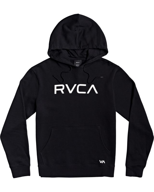 RVCA Big Hoodie Black - Kapuzenpullover