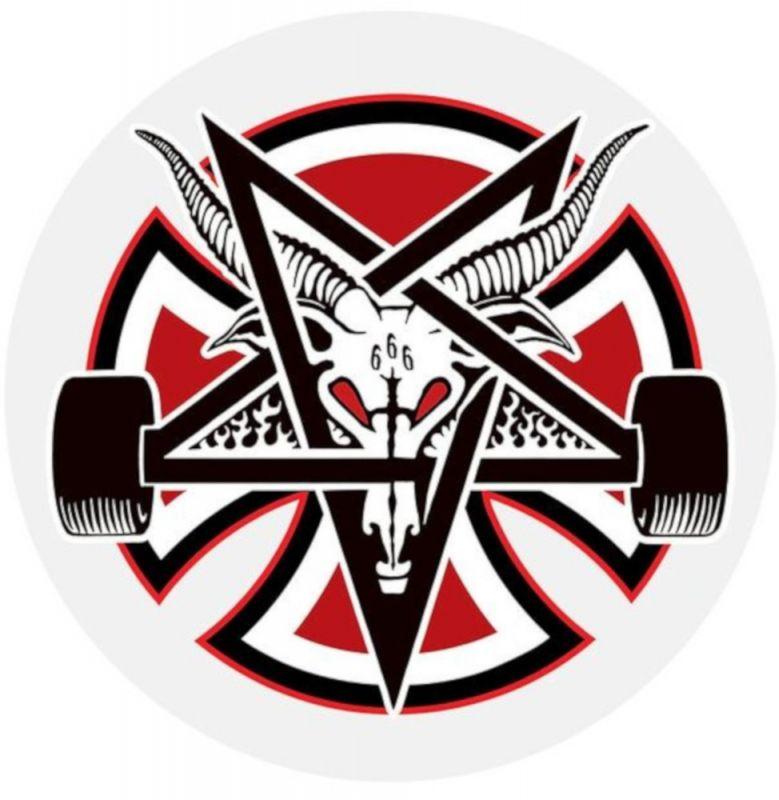 INDEPENDENT Thrasher Pentagram Cross Sticker 12cm Aufkleber