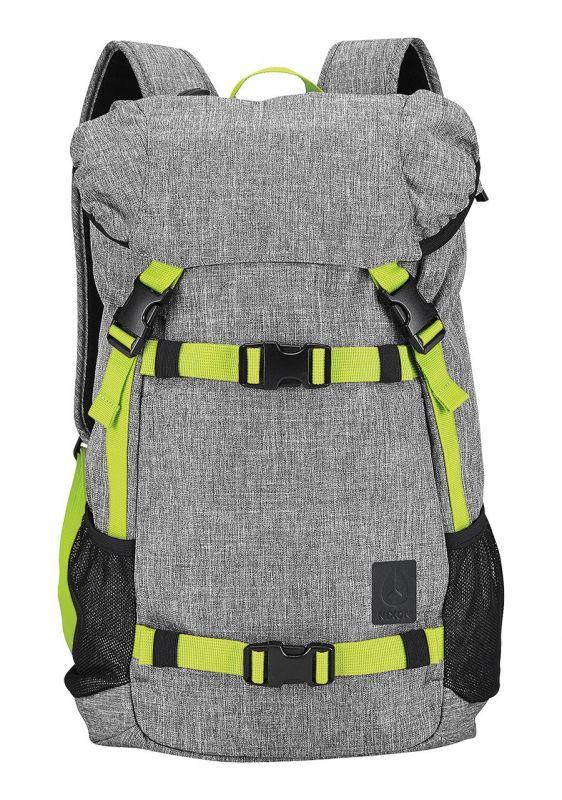 NIXON Landlock Backpack SE Heather Gray Lime | Rucksack