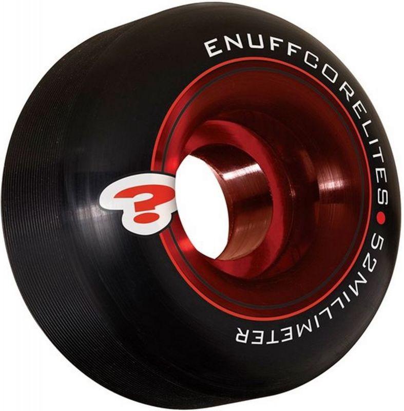 ENUFF Corelites Wheels 52mm 101a Black/Red  - Skateboardrollen