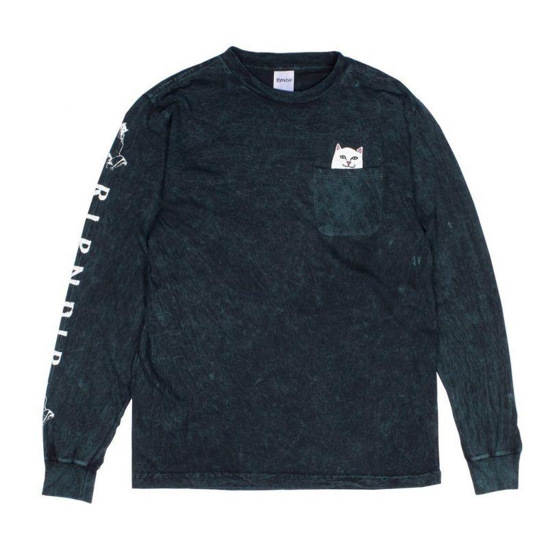 RIPNDIP Lord Nermal L/S Hunter Mineral Wash - Longsleeve Shirt - Größe S