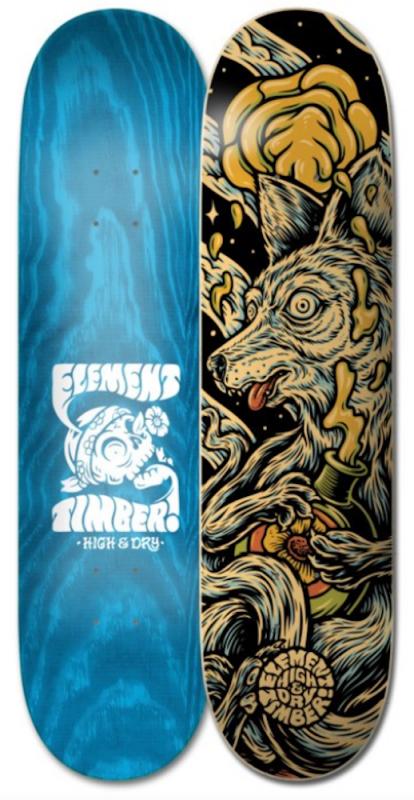 """ELEMENT Timber High Dry Skull 8.38"""" - Skateboard Deck"""