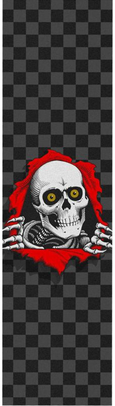 "POWELL PERALTA Checkered Black Ripper 9"" Griptape"