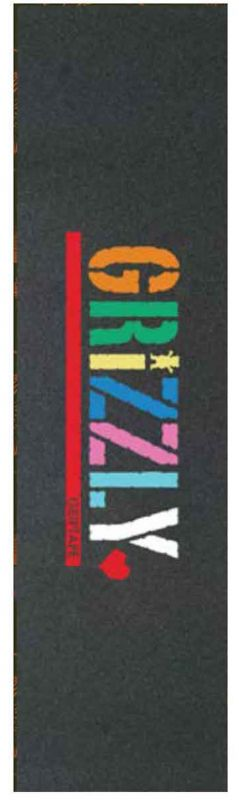 """GRIZZLY Color Blocked Stamp Griptape - Skateboard 9"""" x 33"""""""